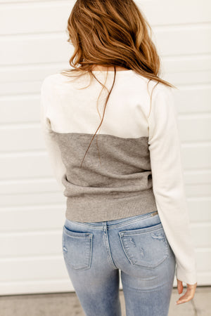 Ampersand The Margot Sweater | Grey & White