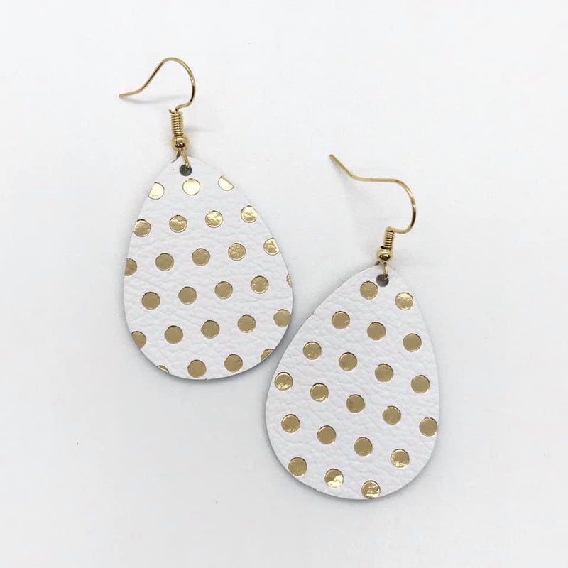 Metallic Gold Polka Dot - Small - U