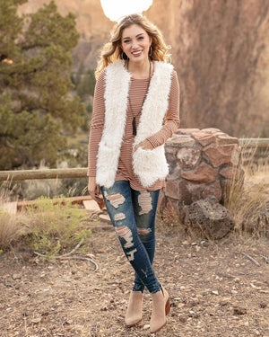 Grace & Lace | Arctic Vest | Cream Without Hood