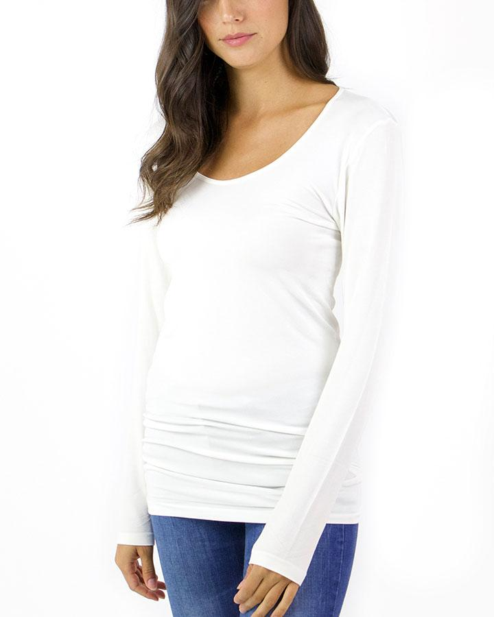 Grace & Lace Perfect Fit Top - Ivory