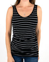 Grace & Lace |Reversible Easy Fit Perfect Fit Tank| Black & Grey Striped - ORIGINAL