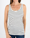 Grace & Lace |Reversible Easy Fit Perfect Fit Tank| Ivory & Black Striped - SHORTER