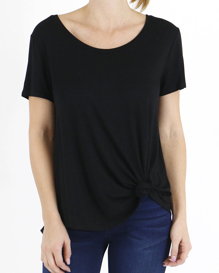 Grace & Lace Perfect Scoop Neck Tee - Black