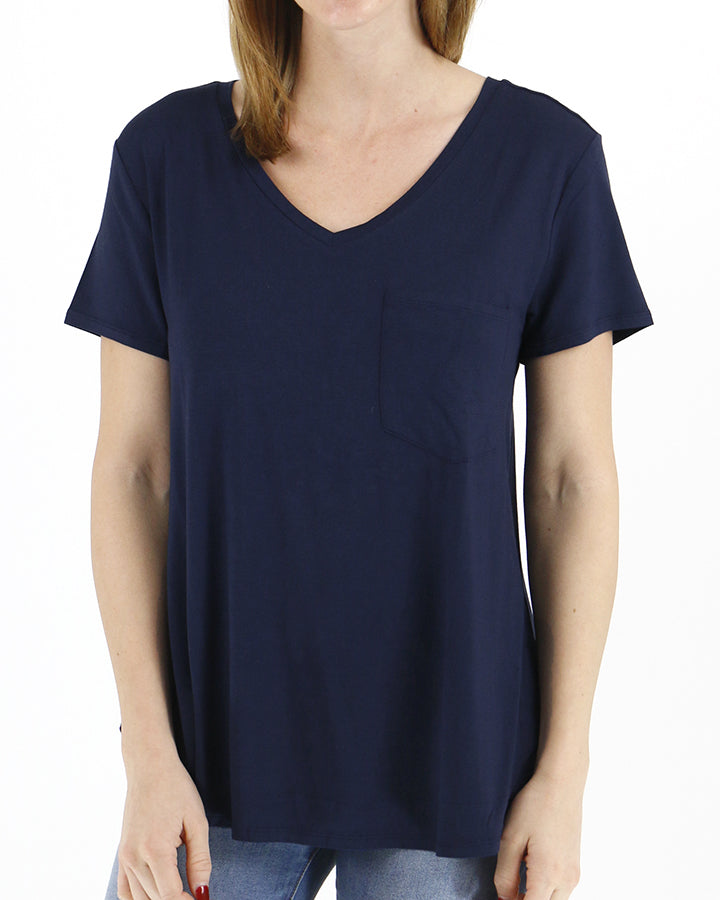 Grace & Lace Perfect Pocket Tee - Navy