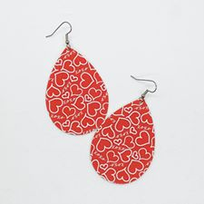 Red Hearts Teardrops - Large - 236