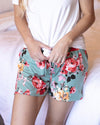 Grace & Lace | Summer Sweet Live-In PJ Shorts | Sage Floral