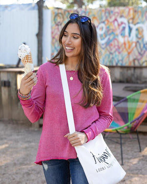 Grace & Lace | Saturday Sweatshirt | Washed Raspberry