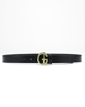 *FINAL SALE* Grace & Lace | G&L Buckle Belt | Black with Gold