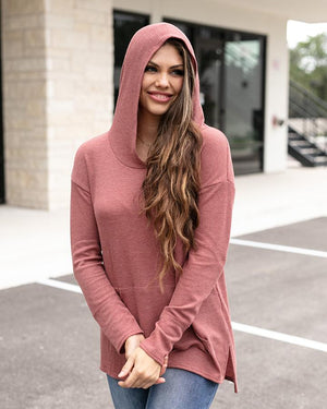 Grace & Lace Waffle Hoodie | Rust