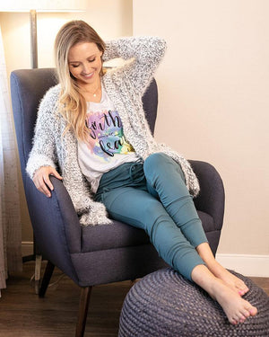 Grace & Lace | Wubby Cardi | Salt & Pepper