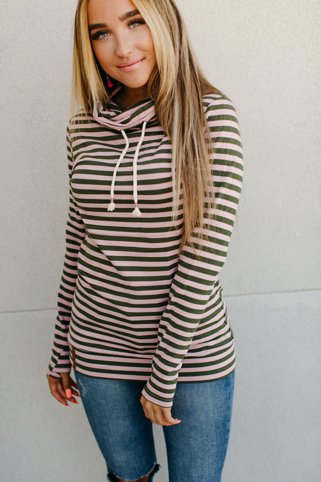 Ampersand Cowlneck Sweatshirt - All A Flutter