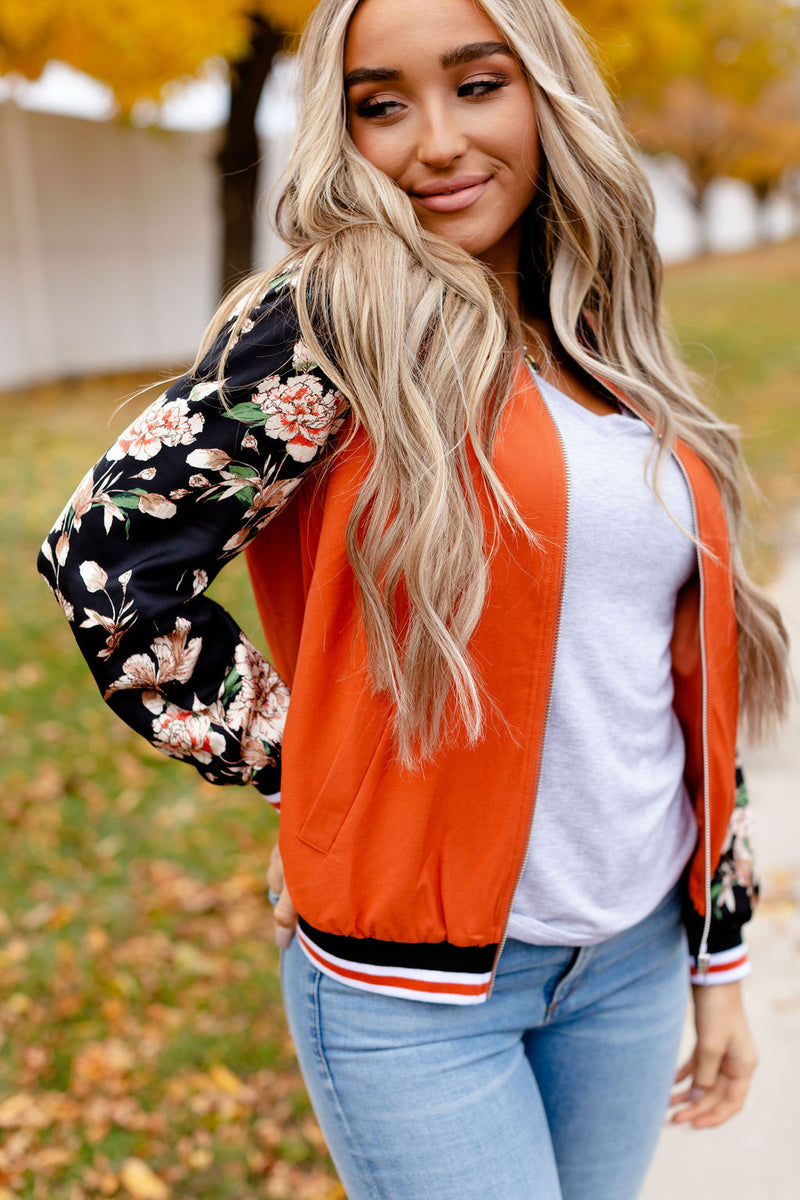 Ampersand | Autumn Floral Bomber