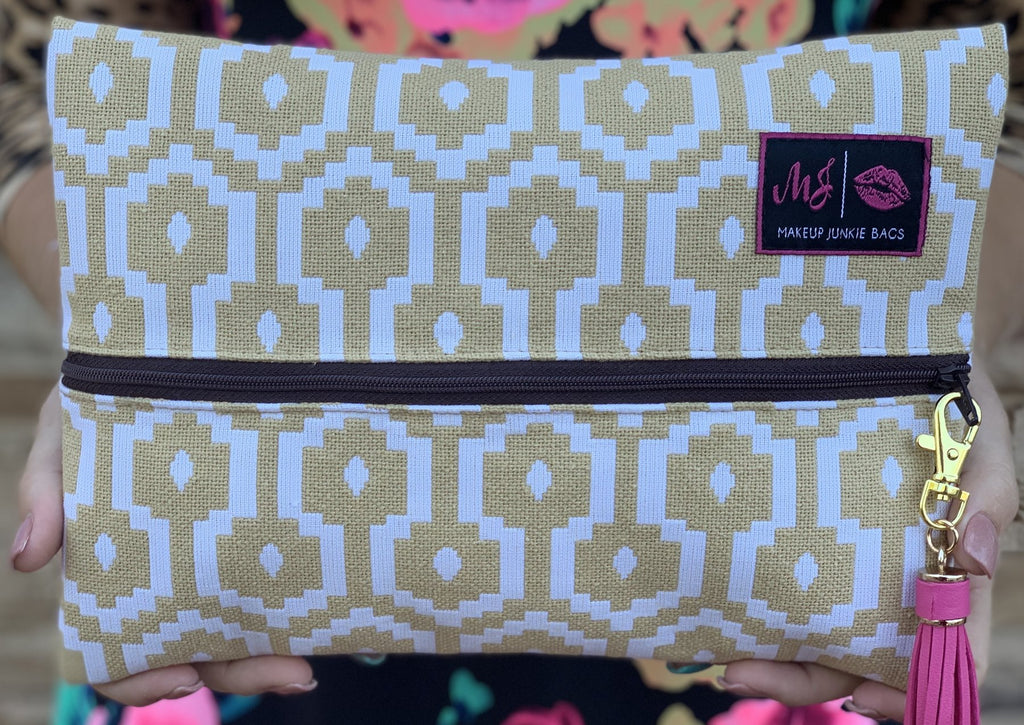 Makeup Junkie Bag - Caramel Bliss
