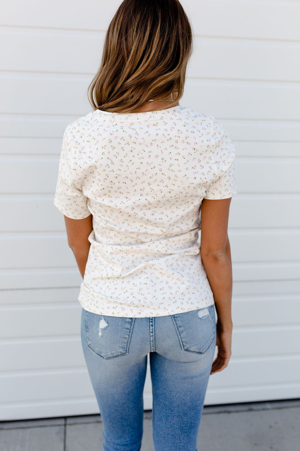 *NEW* Ampersand | Lulu Tee | White Floral