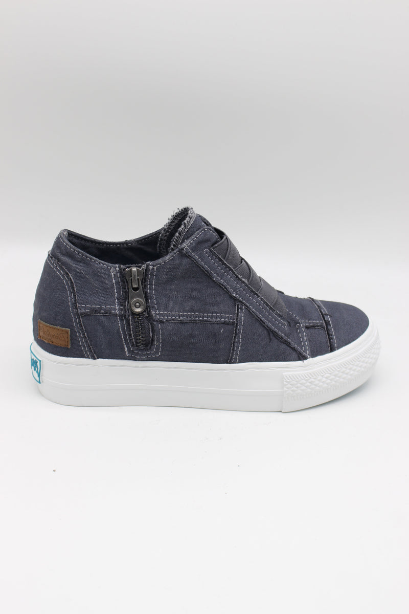 Blowfish Mamba |Wedge Sneaker| BlueTuna Colour Washed Canvas