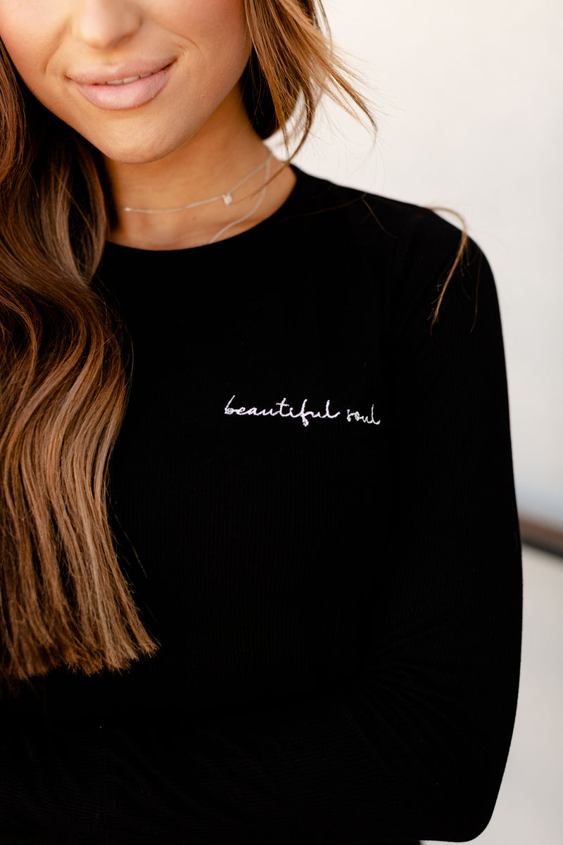 Ampersand Beautiful Soul | Ribbed Long Sleeve