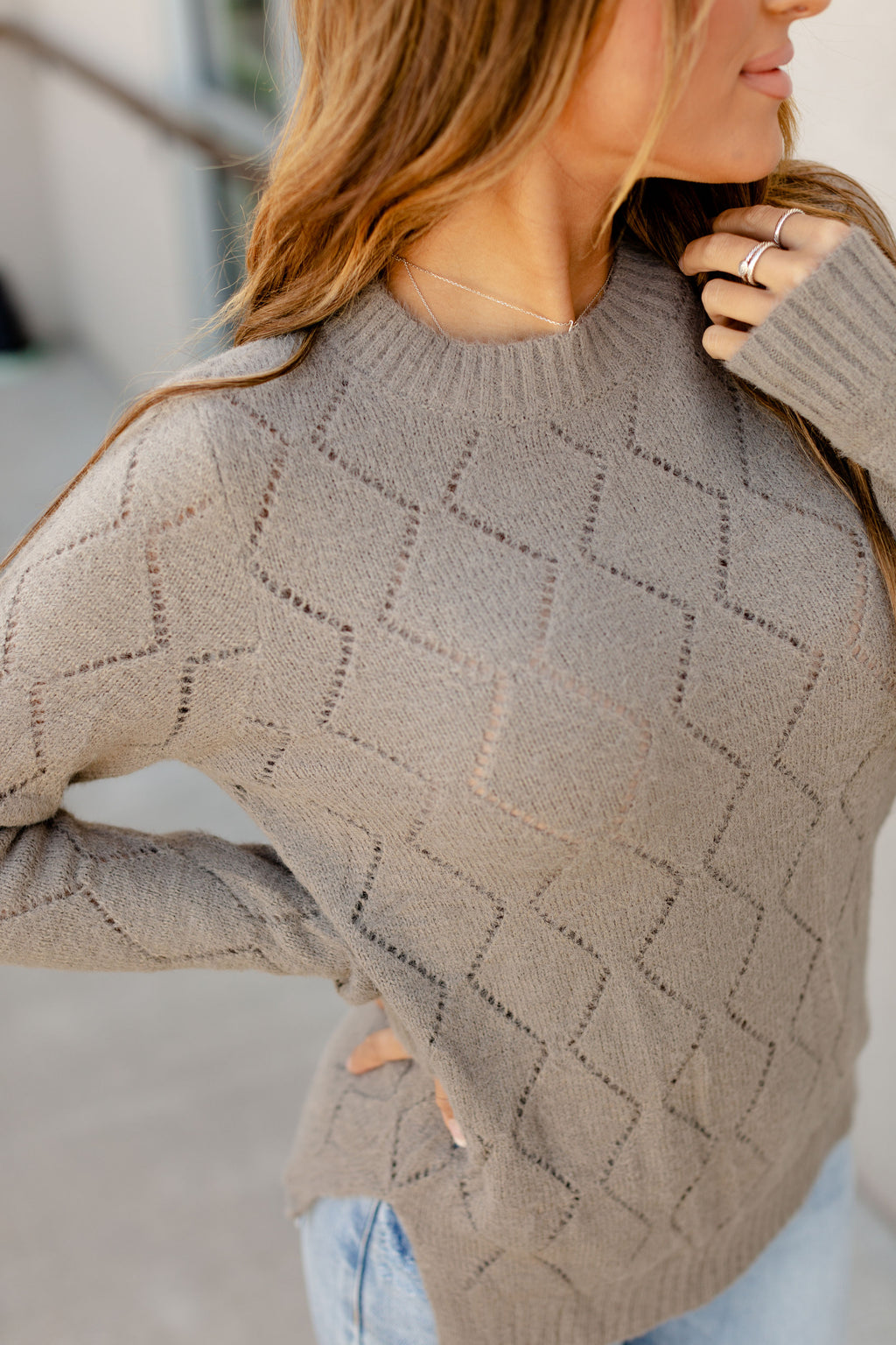 Ampersand The Emily Sweater | Grey