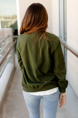 *FINAL SALE* Ampersand Essential Bomber | Olive
