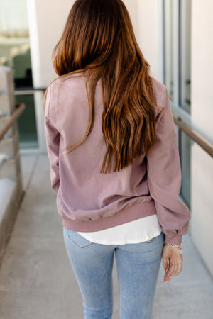 Ampersand Essential Bomber | Washed Mauve