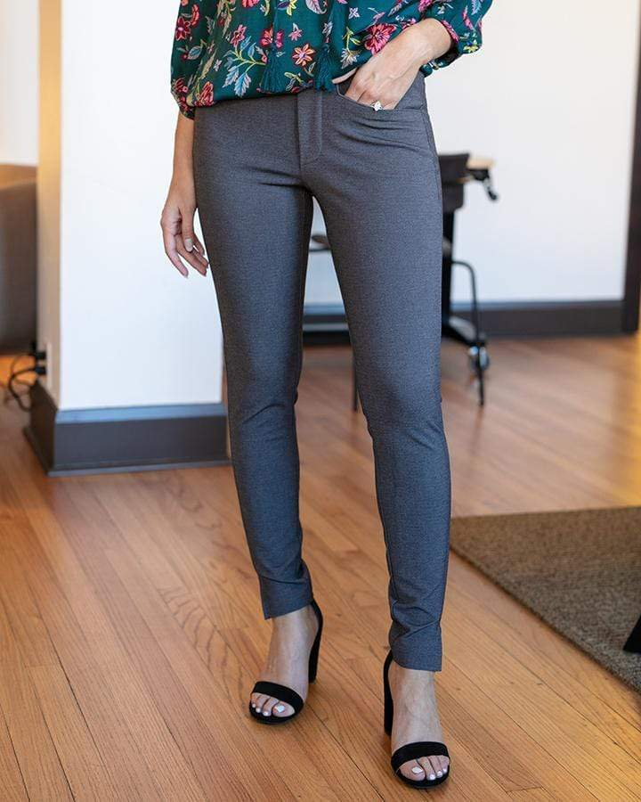 Grace & Lace Fab-Fit Work Pant | Slim Fit | Charcoal