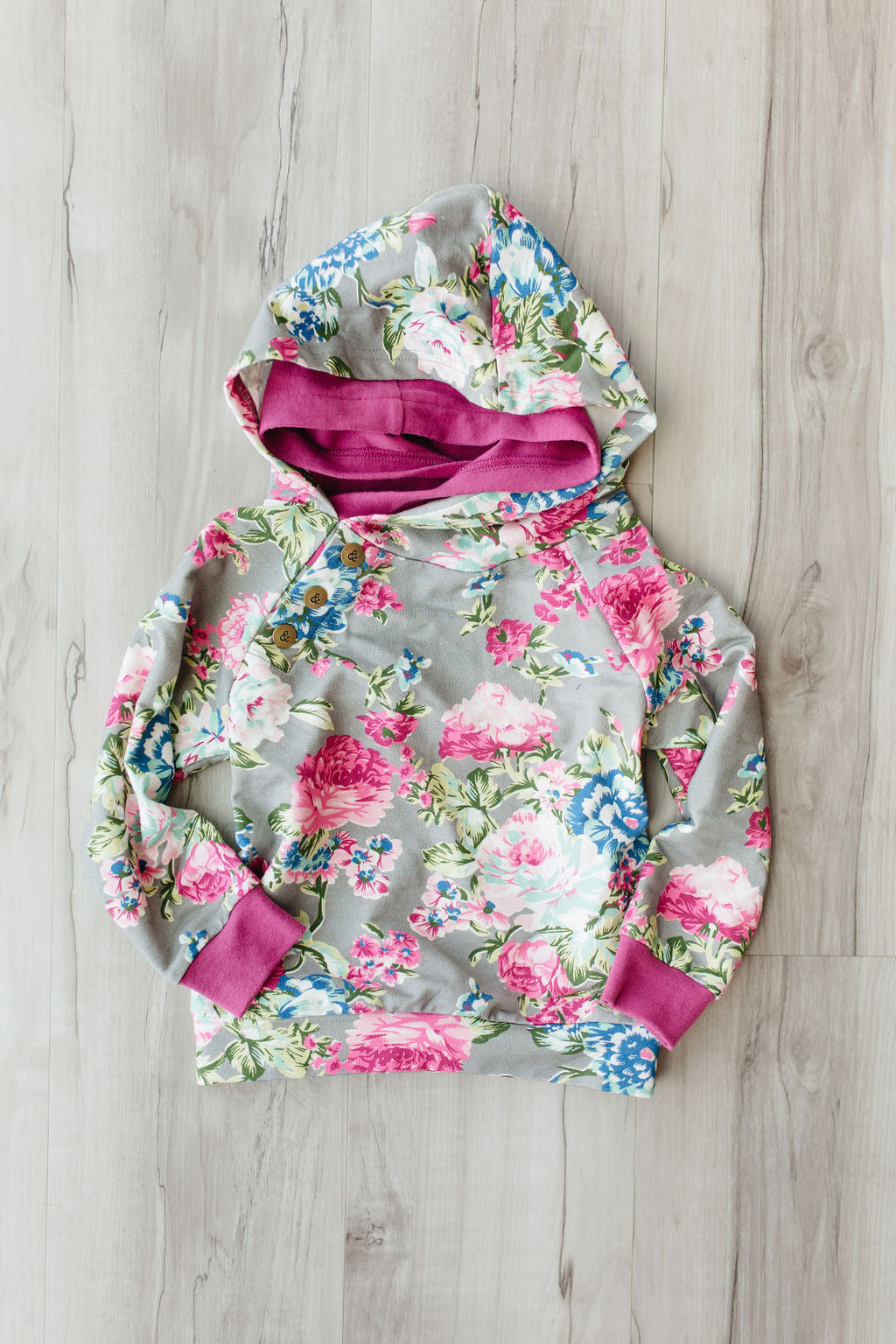 KIDS Doublehood Sweatshirt - Floral Frenzy