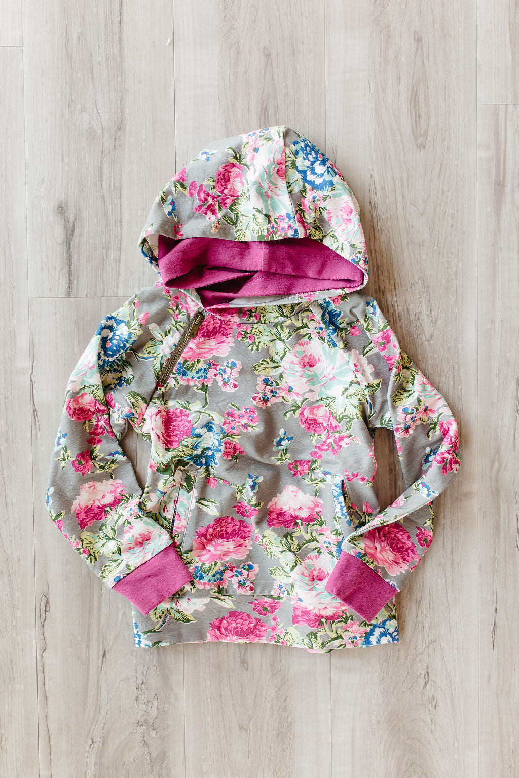 YOUTH Doublehood Sweatshirt - Floral Frenzy