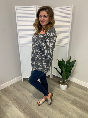 Melissa LONG Sleeve Sweatshirt | Charming Camo