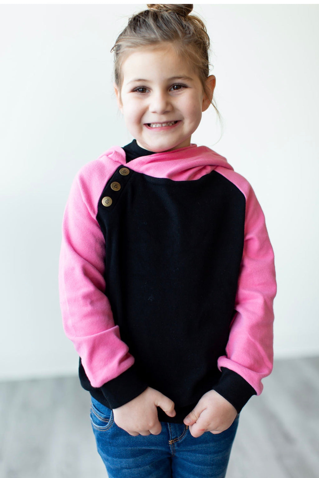 KIDS Doublehood Sweatshirt in Pretty in Pink