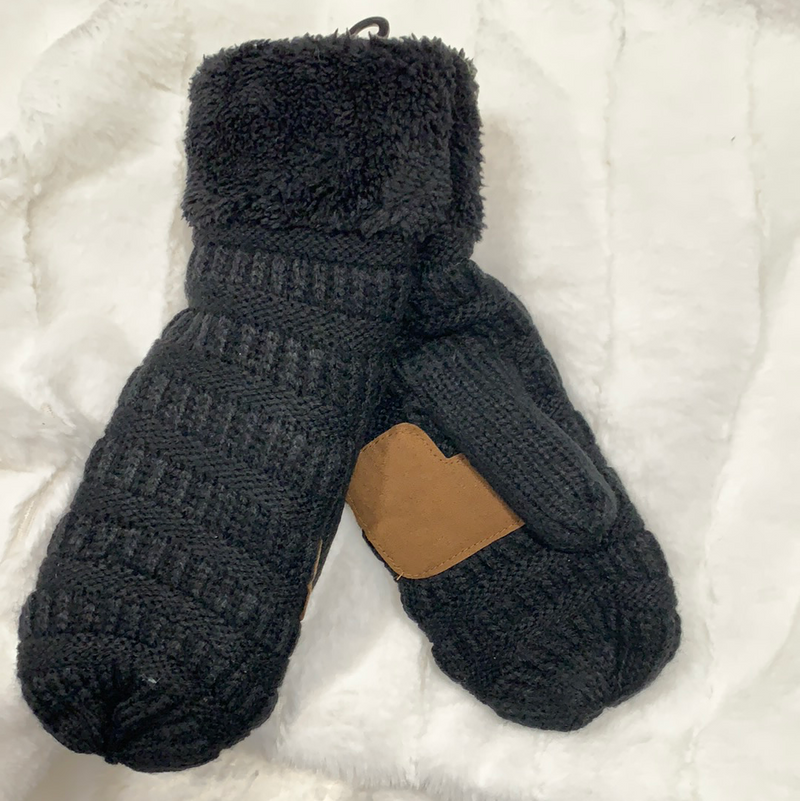 *NEW* Smitten Knit Mittens | Black