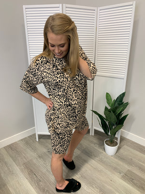 Tracy Animal Print Matching Set | 2 Piece | Taupe