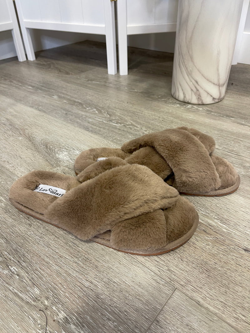 *FINAL SALE* Duchess X Slippers | Taupe