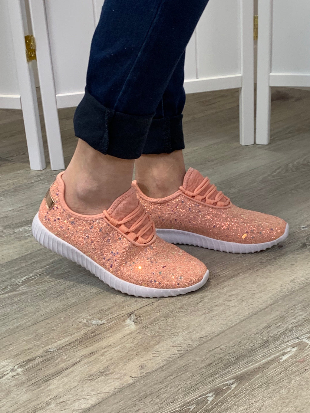 Remy Sneakers | Glitter Pink