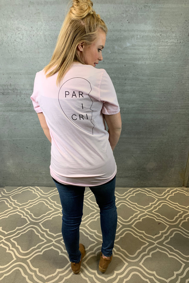 Partner in Crime Tee - Pink (Left)