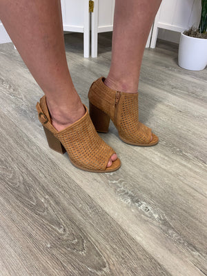 Barnes Perforated Bootie - Camel