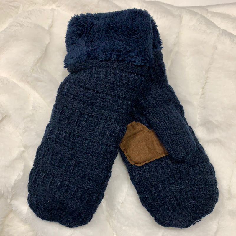 *NEW* Smitten Knit Mittens | Navy