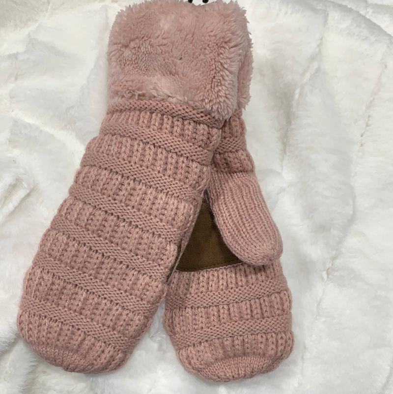 *NEW* Smitten Knit Mittens | Rose