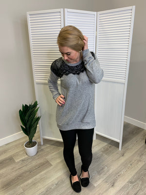 Whitney Top - Heather Grey