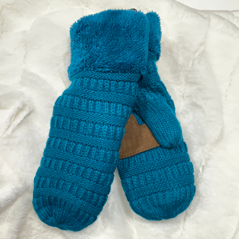 *NEW* Smitten Knit Mittens | Teal
