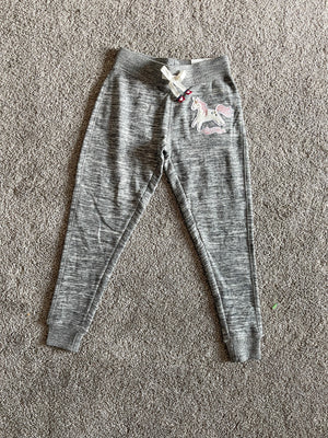 KIDS Unicorn Patch Joggers | Marled Charcoal