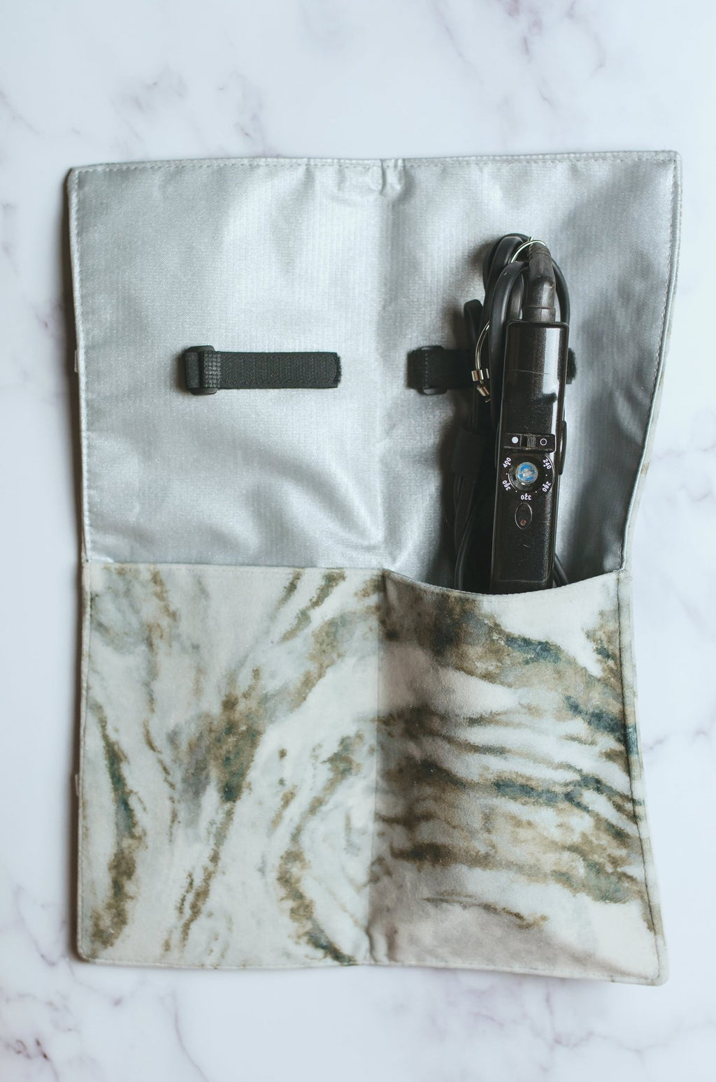 Makeup Junkie Bags | Hot Tools | Ivory Marble