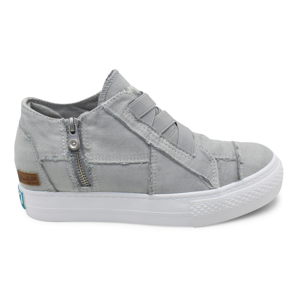 Blowfish Mamba | Wedge Sneaker | Sweet Gray Colour Washed Canvas