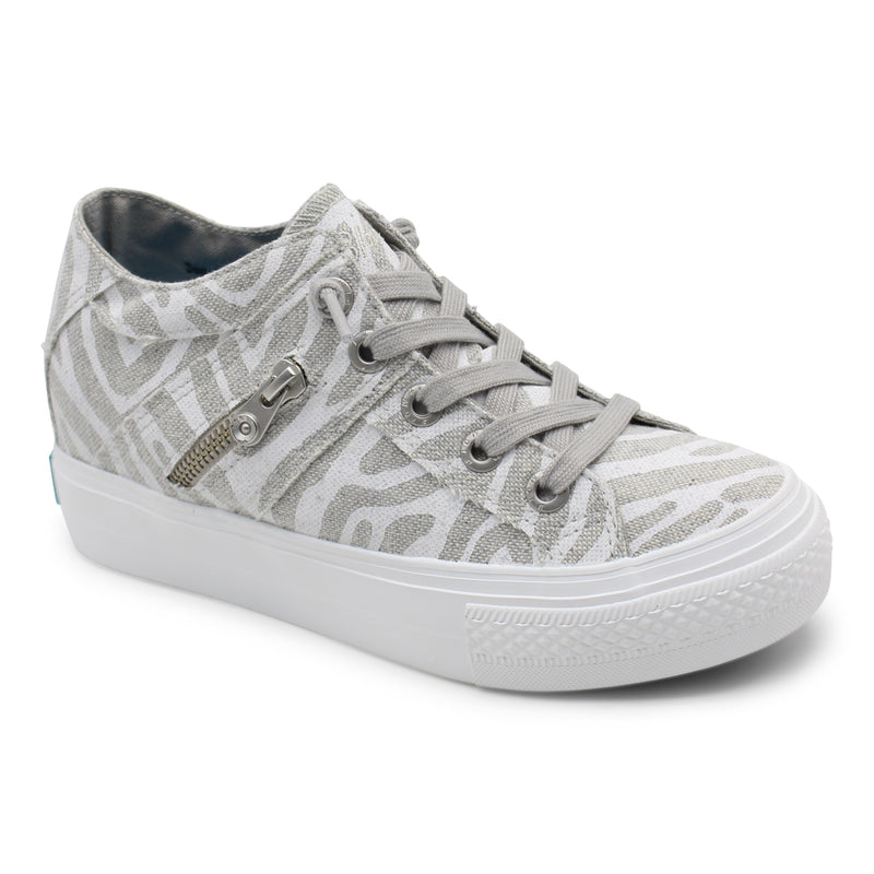 Blowfish MELONDROP | Sneaker | Off White Zebra Print Linen