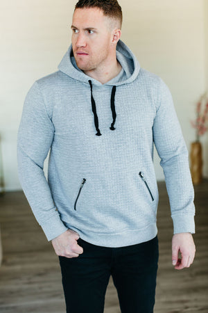 MENS Ampersand Ave Essentials Hoodie - Quilted Grey