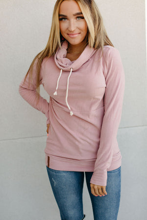 Ampersand Cowlneck Sweatshirt - Partial to Pink