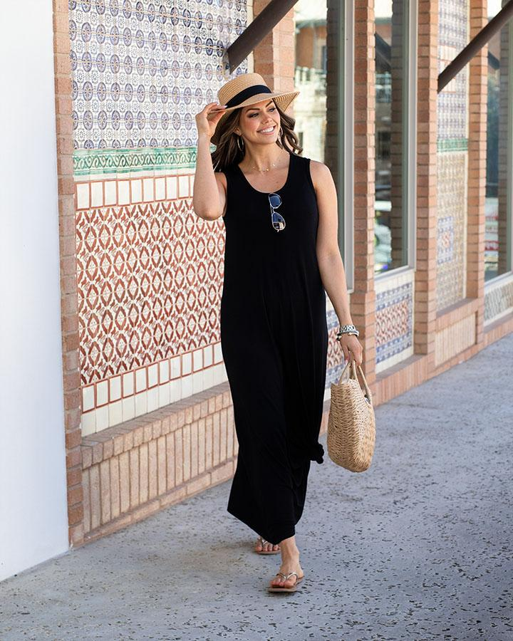 Grace & Lace | Sleeveless Maxi Dress | Black
