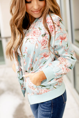 Ampersand Stay With Me Floral Bomber | Blue