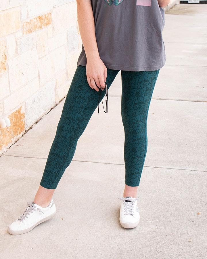 *RESTOCK* Grace & Lace | RePurposed LIVE-IN Leggings | MID Length | Textured Teal