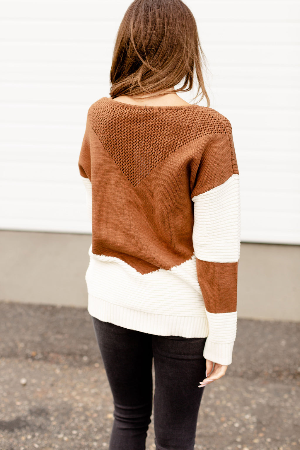 Ampersand The Lucy Sweater | Brown & Cream