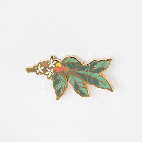 Coffee Plant Enamel Pin
