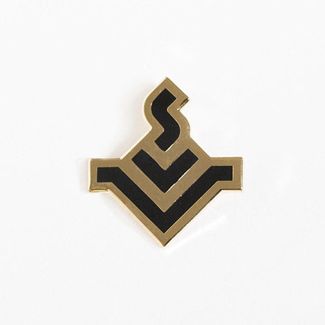 Black & Gold Iconic Enamel Pin